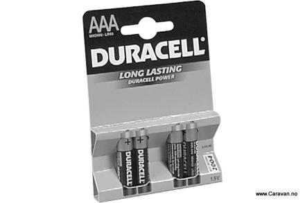 DURACELL BATTERI 1,5 V, LR03 MN 2400 AAA