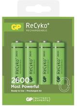 GP BATTERIES GP Recyko 2600mAh AA/HR6 4-pack 270AAHCE Replace: N/AGP BATTERIES GP Recyko 2600mAh AA/HR6 4-pack