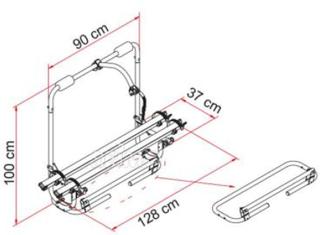 Fiamma rammestativ XL A Pro 200, maks 35 kg, for 2 sykler