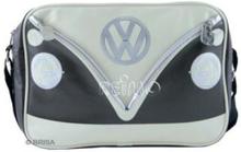 VW collection skulderveske VW Bulli tverrgående, brun/krem, 25x35x10 cm