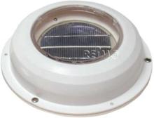 Carbest solcelle ventilator 215 mm, med bryter