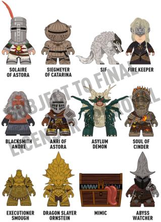 Dark Souls Figur 8cm - 1 stk tilfeldig Samlefigur - Klarer du å samle alle?