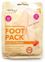 DermaV10 Deep Moisturising Foot Pack Honey & Almond 1 par