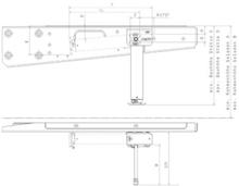AL-KO løftestøtte mekanisk bak rh: 420-624 mm håndsveiv