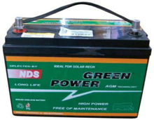 Green power AGM 100Ah batteri, lxbxh 327x172x245 mm, 29,4 kg