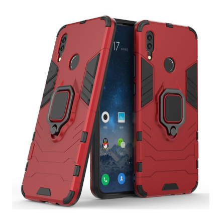Huawei P Smart 2019 cool guard kickstand hybrid case - Red