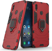 Huawei P Smart 2019 cool guard kickstand hybrid case - Red