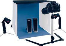 Fotostudio XL compleet met blue screen, statief en lampen. Met 4...