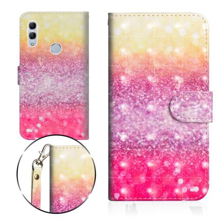 Huawei P Smart 2019 light spot décor leather flip case - Glittery Elements