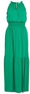 VILA Ärmlös Maxiklänning Kvinna Grön