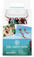HP ZINK™ självhäftande fotopapper – 50 ark/5 x 7,6 cm (2 x 3 tum)