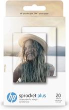 HP Sprocket Plus fotopapper 20 ark med självhäftande baksida/5,8 x 8,7 cm (2,3 x 3,4 tum)