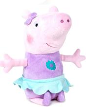 Lilla og Turkis Lisensiert Peppa Pig Plysj Bamse 18 cm