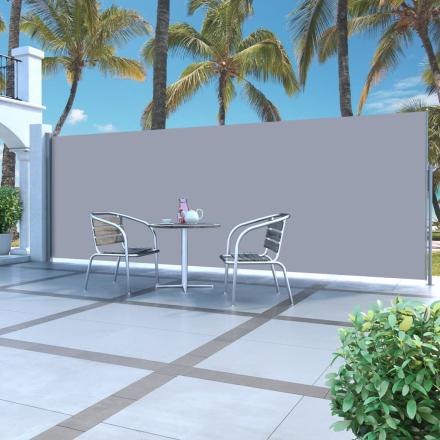 vidaXL Infällbar sidomarkis 160 x 500 cm gräddvit