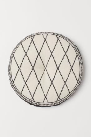 H & M - Puuvillainen istuintyyny - Beige