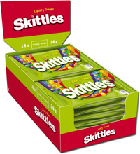 "Hel Låda Godis ""Skittles Crazy Sours"" 14 x 38g - 73% rabatt"
