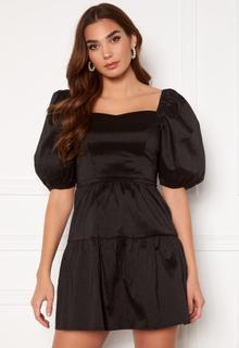Girl In Mind Freya Puff Sleeves Square Neck Mini Dress Black XS (UK8)