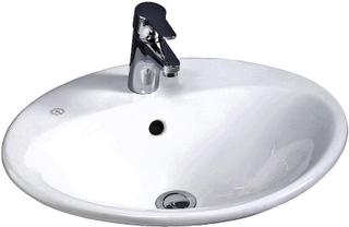 Gustavsberg Tvättställ Nautic 5555 för Utan Bräddavlopp och hål för blandare Med C+