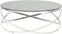 Granvik soffbord - Glas/polerat stål