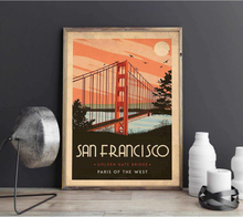 Art deco - San Francisco - World collection poster - 60x90
