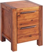 vidaXL Sängbord massivt akaciaträ brun 45x42x58 cm