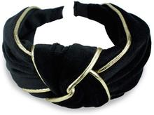 Everneed Velvet Hiuspanta Musta & Kulta 1 kpl