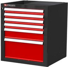 Facom JET Line Verktygsskåp röd/svart 6 lådor
