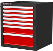 Facom JLS2-MBS7T Verktygsskåp röd/svart 7 lådor