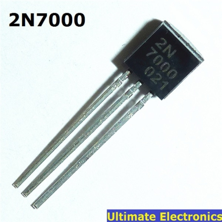 50pcs 2N7000 TO-92 N-Channel MOSFET Transistor