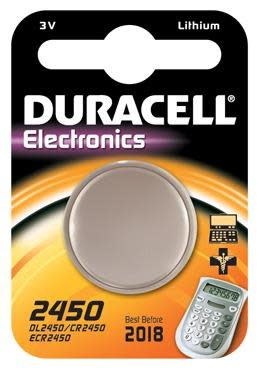 Duracell Electronics CR2450 Lithium Batteri - 1 stk.