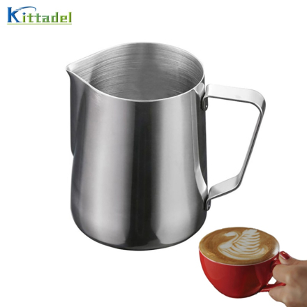 150ML/350ML/600ML Stainless Steel Pull Flower Coffee Cup Cappuccino Cream Milk Foam Mug Milk Frothing Jug Thermo Latte Art