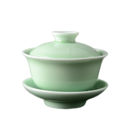 High-quality Chinese Celadon gai wan tea set,China Dehua Bone Tea cup gaiwan tea porcelain teacup tea set for creative kettle