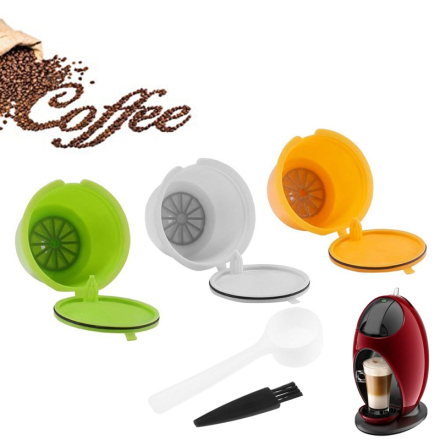 3pcs Reusable Refillable Coffee Capsules Pods Coffee Maker Pod Cup Cafeteira Coffee Filters For Nescafe Dolce Gusto Machines