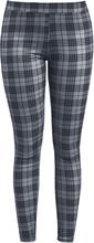 Fashion Victim - Checkered Leggings - Träningsbyxor - lila svart