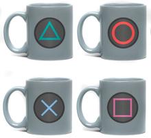 Playstation - Buttons - Espresso Tassen Set -Krus, sett - flerfarget