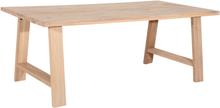 Quebec matbord med H-ben - Vitoljad ek - 240x100x76 cm