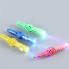 LED Spinning Pen Ball Pen Fidget Spinner Hand Top Glow In Dark Light EDC Stress Relief Toys Kids Toy Gift School Supplies MAR-20