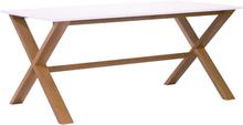 Artic matbord 220 cm - Ek / vit