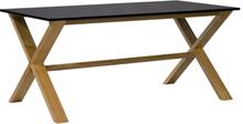 Artic matbord 220 cm - Ek / Svart