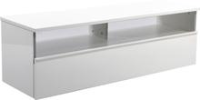 TV-bänk Decibel - Vägghängd (vit högblank)