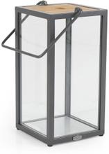 Zalongo ljuslykta teak/aluminium 25x50 cm