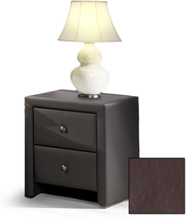 Klara sängbord - Mörkbrun (PU)