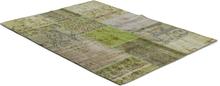 Äkta Patchwork matta Persia - Grön - 170x230 cm