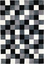 Tuftad matta Quadro - Svart/vit - Rutig - 140x200 cm