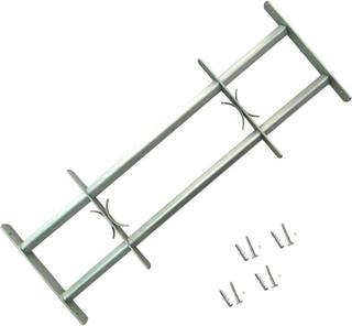 vidaXL Justerbart Sikkerhedsgitter til Vinduer med 2 Tværstænger 500-650 mm