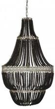 Takkrona Signum kullampa XL 110 cm (svarta träkulor)
