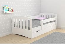 Junior seng med skuff og madra - Barneseng 11823