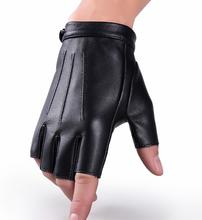 Männer Schaffell dünne atmungsaktive Halbfinger-Handschuhe Outdoor Fitness taktische Anti-Rutsch-Handschuhe