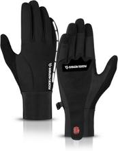 Männer Winter Warm Touchscreen Wasserdichte Reflektierende Streifen Outdoor Ski Fahren Vollfingerhandschuhe