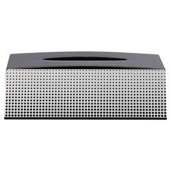 Sealskin Tissue Box Holder Speckles Black 361890819